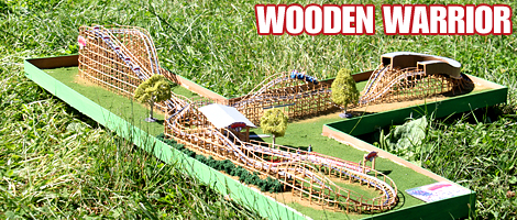 how to make a roller coaster model at home